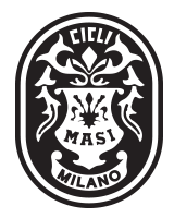 Masi vertical logo black / white